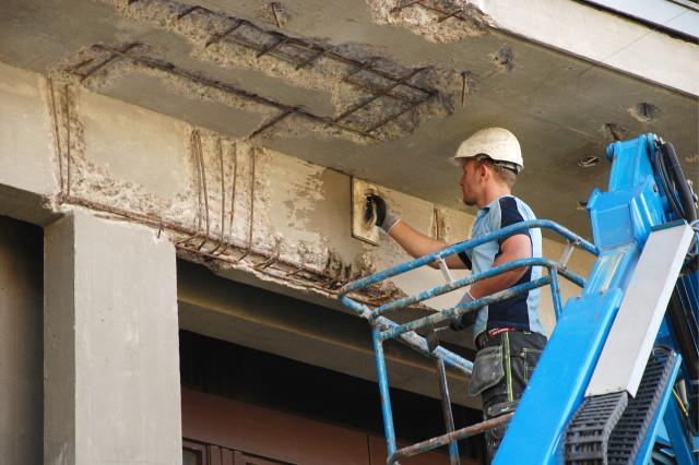 Betongrehabilitering av fasade Kringsjå Studenby