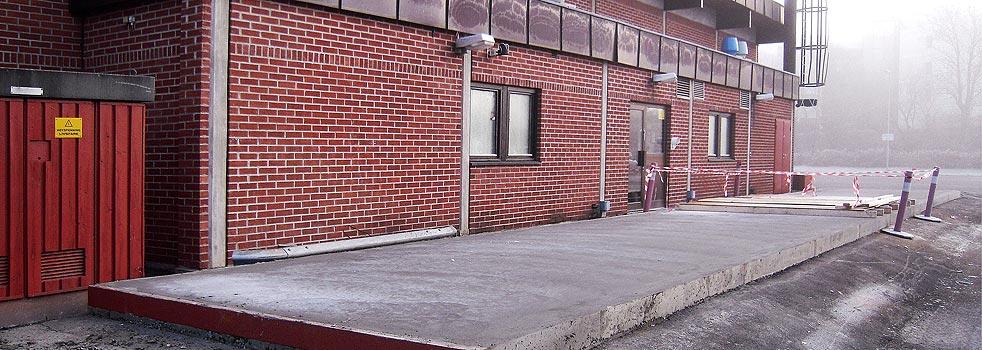 Betongrehabilitering på Billingstad Trafikkstasjon