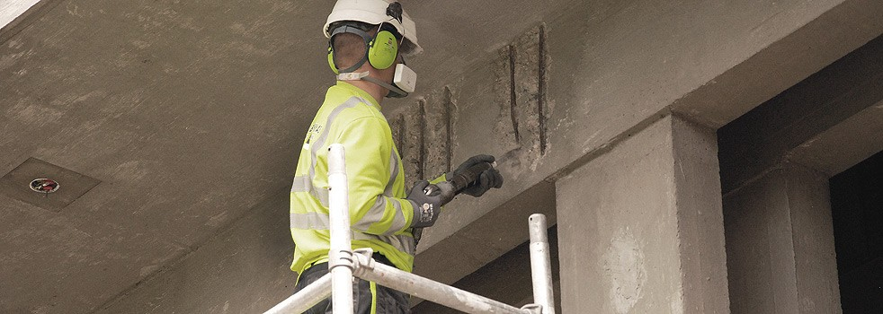 Betongrehabilitering av skadet betong