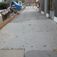 Skadet betong på kai i Oslo