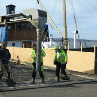 Betongrehabilitering med vannmeisling i Oslo